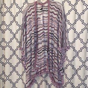 WHBM Tassel Detail Poncho